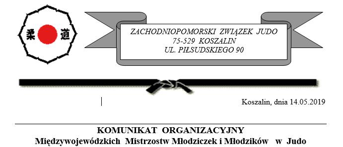 KOMUNIKAT  ORGANIZACYJNY MMM w Judo w Koszalinie [14.09.2019]