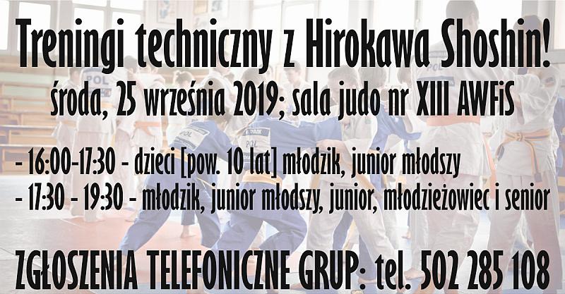 Trening techniczny z Hirokawa Shoshin! [25.09.2019]