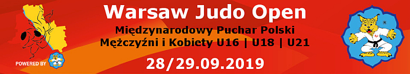 [ZAWODY] WARSAW JUDO OPEN [WARSZAWA, 28-29.09.2019]