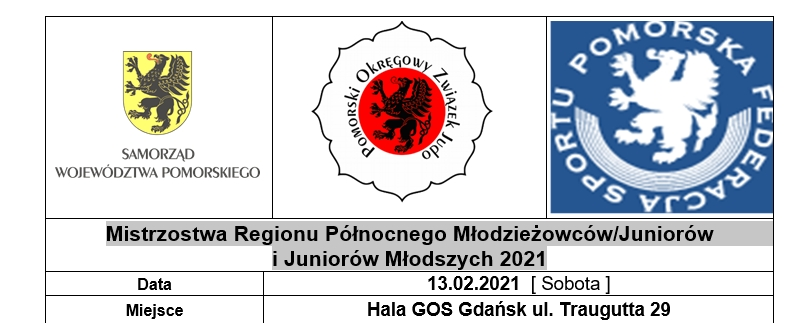 Mistrzostwa Regionu Północnego Młodzieżowców/Juniorów i Juniorów Młodszych 2021[13.02.2021]